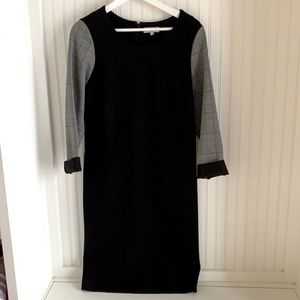 NWOT Promiss Dress with Plaid Sleeves